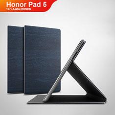 Funda de Cuero Cartera con Soporte Carcasa para Huawei Honor Pad 5 10.1 AGS2-W09HN AGS2-AL00HN Azul