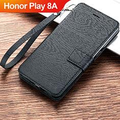 Funda de Cuero Cartera con Soporte Carcasa para Huawei Honor Play 8A Negro