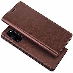 Funda de Cuero Cartera con Soporte Carcasa para Huawei Honor View 30 Pro 5G Marron