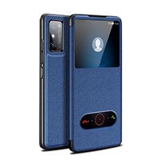 Funda de Cuero Cartera con Soporte Carcasa para Huawei Honor X10 Max 5G Azul