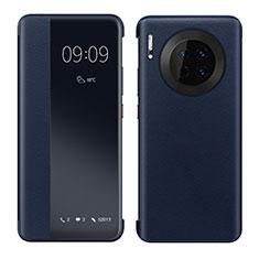Funda de Cuero Cartera con Soporte Carcasa para Huawei Mate 30 5G Azul