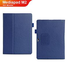 Funda de Cuero Cartera con Soporte Carcasa para Huawei MediaPad M2 10.0 M2-A10L Azul