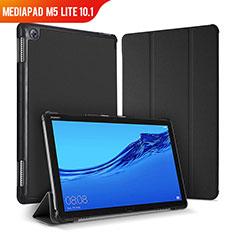 Funda de Cuero Cartera con Soporte Carcasa para Huawei MediaPad M5 Lite 10.1 Negro