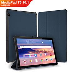 Funda de Cuero Cartera con Soporte Carcasa para Huawei MediaPad T5 10.1 AGS2-W09 Azul