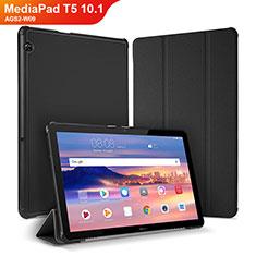 Funda de Cuero Cartera con Soporte Carcasa para Huawei MediaPad T5 10.1 AGS2-W09 Negro