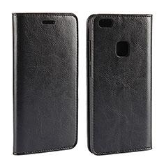 Funda de Cuero Cartera con Soporte Carcasa para Huawei P10 Lite Negro