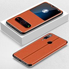 Funda de Cuero Cartera con Soporte Carcasa para Huawei P30 Lite New Edition Marron