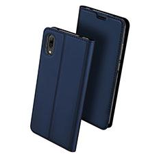 Funda de Cuero Cartera con Soporte Carcasa para Huawei Y7 Prime (2019) Azul