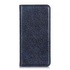 Funda de Cuero Cartera con Soporte Carcasa para Huawei Y8p Azul