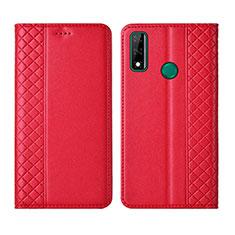 Funda de Cuero Cartera con Soporte Carcasa para Huawei Y8s Rojo