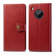 Funda de Cuero Cartera con Soporte Carcasa para Huawei Y9a Rojo