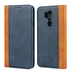Funda de Cuero Cartera con Soporte Carcasa para LG G7 Azul