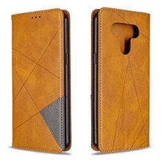 Funda de Cuero Cartera con Soporte Carcasa para LG K51 Amarillo