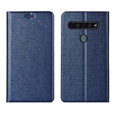 Funda de Cuero Cartera con Soporte Carcasa para LG K51S Azul