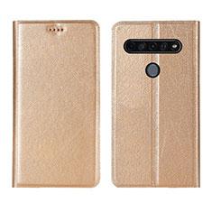 Funda de Cuero Cartera con Soporte Carcasa para LG K51S Oro