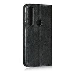 Funda de Cuero Cartera con Soporte Carcasa para Motorola Moto G8 Play Negro