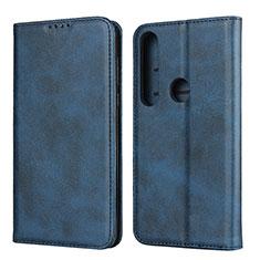 Funda de Cuero Cartera con Soporte Carcasa para Motorola Moto G8 Plus Azul