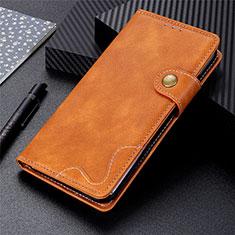 Funda de Cuero Cartera con Soporte Carcasa para Motorola Moto G9 Plus Naranja