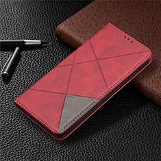 Funda de Cuero Cartera con Soporte Carcasa para Nokia 3.4 Rojo