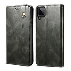Funda de Cuero Cartera con Soporte Carcasa para Samsung Galaxy A12 Verde Noche