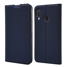Funda de Cuero Cartera con Soporte Carcasa para Samsung Galaxy A20e Azul