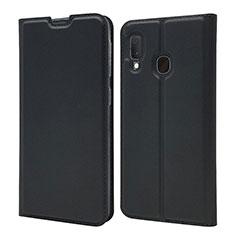 Funda de Cuero Cartera con Soporte Carcasa para Samsung Galaxy A20e Negro