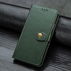 Funda de Cuero Cartera con Soporte Carcasa para Samsung Galaxy A21s Verde