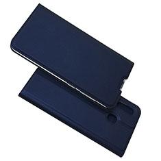 Funda de Cuero Cartera con Soporte Carcasa para Samsung Galaxy A30 Azul