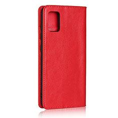 Funda de Cuero Cartera con Soporte Carcasa para Samsung Galaxy A51 4G Rojo