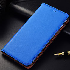 Funda de Cuero Cartera con Soporte Carcasa para Samsung Galaxy A6s Azul