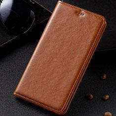 Funda de Cuero Cartera con Soporte Carcasa para Samsung Galaxy A81 Naranja
