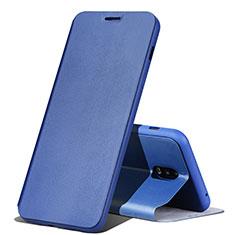 Funda de Cuero Cartera con Soporte Carcasa para Samsung Galaxy J7 Plus Azul
