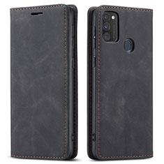 Funda de Cuero Cartera con Soporte Carcasa para Samsung Galaxy M21 Negro