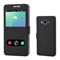 Funda de Cuero Cartera con Soporte Carcasa para Samsung Galaxy On7 Pro Negro