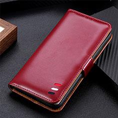 Funda de Cuero Cartera con Soporte Carcasa para Samsung Galaxy S21 Ultra 5G Rojo Rosa