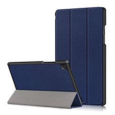 Funda de Cuero Cartera con Soporte Carcasa para Samsung Galaxy Tab A7 Wi-Fi 10.4 SM-T500 Azul