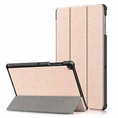 Funda de Cuero Cartera con Soporte Carcasa para Samsung Galaxy Tab S5e Wi-Fi 10.5 SM-T720 Oro