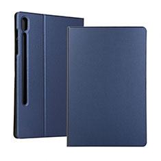 Funda de Cuero Cartera con Soporte Carcasa para Samsung Galaxy Tab S6 10.5 SM-T860 Azul