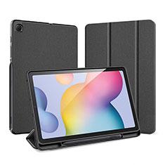 Funda de Cuero Cartera con Soporte Carcasa para Samsung Galaxy Tab S6 Lite 4G 10.4 SM-P615 Negro