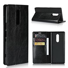 Funda de Cuero Cartera con Soporte Carcasa para Sony Xperia 1 Negro