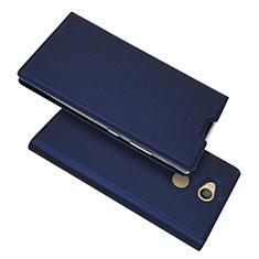 Funda de Cuero Cartera con Soporte Carcasa para Sony Xperia L2 Azul
