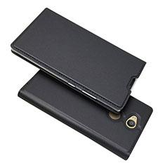 Funda de Cuero Cartera con Soporte Carcasa para Sony Xperia L2 Negro