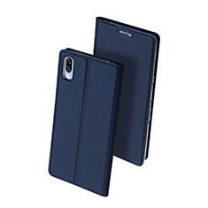 Funda de Cuero Cartera con Soporte Carcasa para Sony Xperia L3 Azul