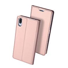 Funda de Cuero Cartera con Soporte Carcasa para Sony Xperia L3 Oro Rosa