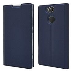Funda de Cuero Cartera con Soporte Carcasa para Sony Xperia XA2 Plus Azul
