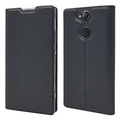 Funda de Cuero Cartera con Soporte Carcasa para Sony Xperia XA2 Plus Negro