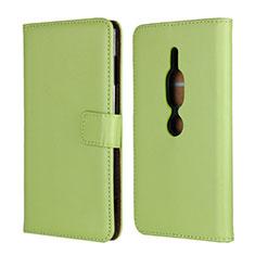 Funda de Cuero Cartera con Soporte Carcasa para Sony Xperia XZ2 Premium Verde