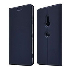 Funda de Cuero Cartera con Soporte Carcasa para Sony Xperia XZ3 Azul