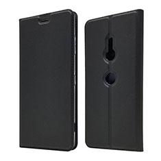 Funda de Cuero Cartera con Soporte Carcasa para Sony Xperia XZ3 Negro