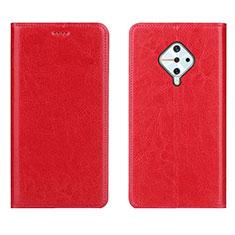 Funda de Cuero Cartera con Soporte Carcasa para Vivo X50 Lite Rojo